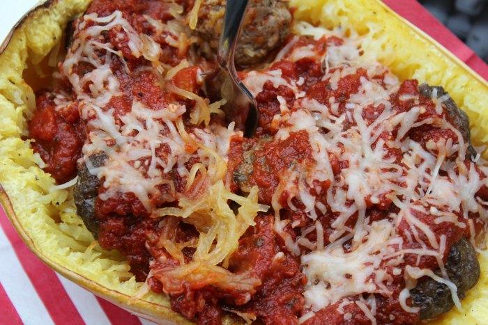 Best Spaghetti Squash and Meatballs