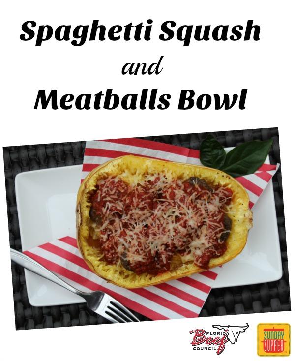 Spaghetti Squash and Meatballs Bowl