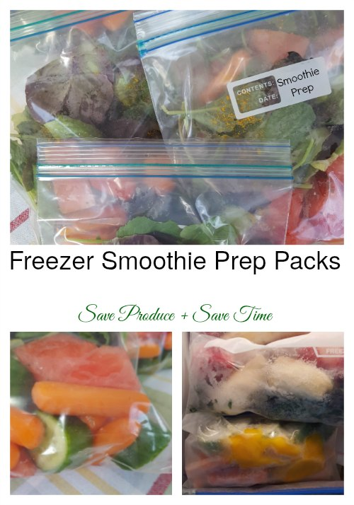 Freezer Smoothie Prep Packs | Make your mornings easier with these simple freezer smoothie prep packs! Plus you will be saving produce. Fill up your freezer with a healthy lifestyle with the help of these freezer smoothie packs. Read more healthy living tips, healthy recipes and smoothie recipes on foodwinesunshine.com