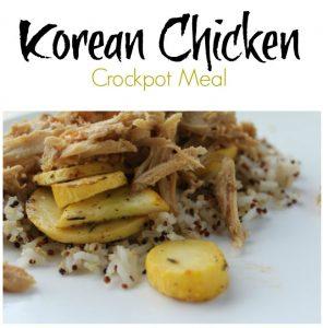 Korean Chicken - Freezer to Crockpot Meal on Food Wine Sunshine
