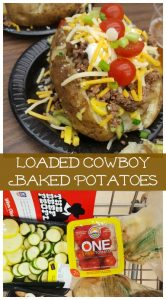 Loaded Cowboy Baked Potatoes on Food Wine Sunshine