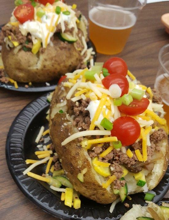 Easy Loaded Cowboy Baked Potatoes