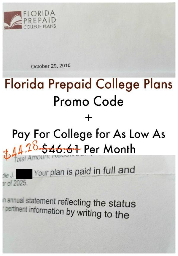 Fl Prepaid College Plans Promo Code