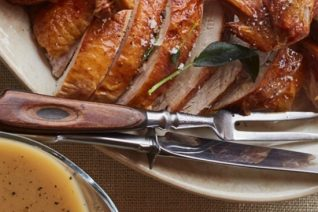 Curtis Stone's Turkey with Sage-Brown Butter Recipe Featured on Food Wine Sunshine