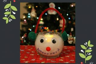 Snowman Candle Holder Craft on Food Wine Sunshine