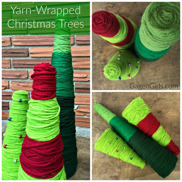 Yarn Wrapped Christmas Tree Craft on Food Wine Sunshine and Cooking