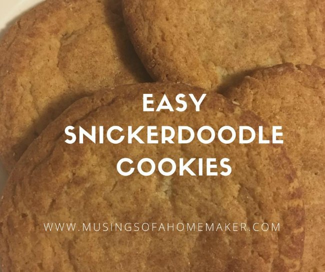 Easy Snickerdoodle Cookie Recipe on Food Wine Sunshine