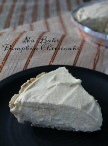 No Bake Pumpkin Cheesecake Recipe on Food Wine Sunshine