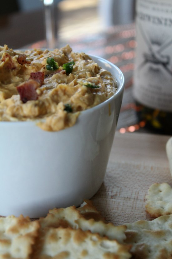 How To Make A Divining Pumpkin and Bacon Dip Appetizer on Food Wine Sunshine