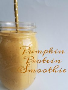 Pumpkin Protein Smoothie on Food Wine Sunshine