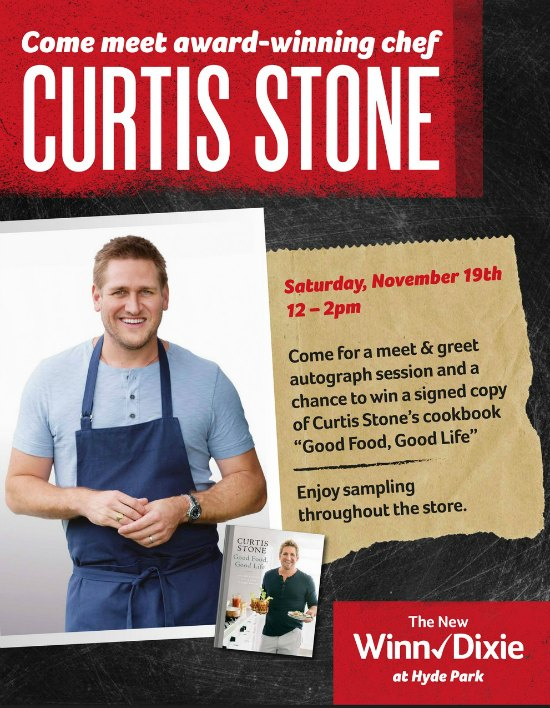 Chef Curtis Stone Comes To Winn-Dixie Hyde Park on Food Wine Sunshine