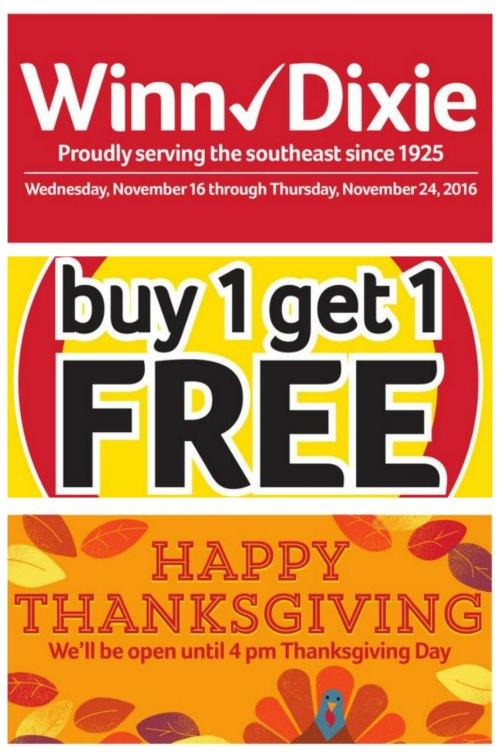 Winn-Dixie Thanksgiving Deals on Food Wine Sunshine