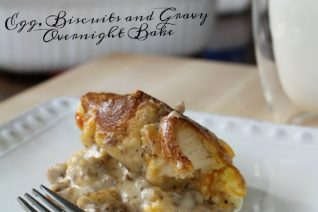 Egg Biscuit and Gravy Breakfast Casserole