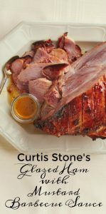 Curtis Stone's Glazed Ham with Mustard Barbecue Sauce Recipe on Food Wine Sunshine