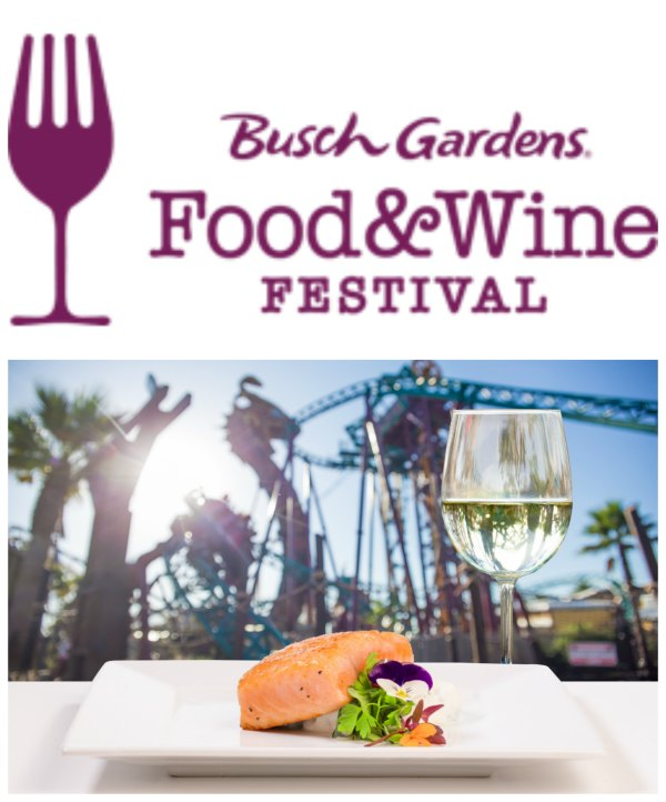 Busch Gardens Food & Wine Festival - Concert Line Up and More on Food Wine Sunshine