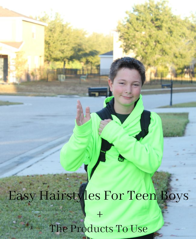 Easy Hairstyles For Teen Boys + The Products To Use on Food Wine Sunshine