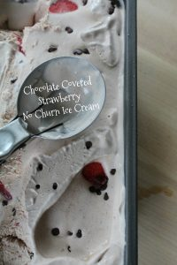Chocolate Covered Strawberry No Churn Ice Cream Recipe on Food Wine Sunshine