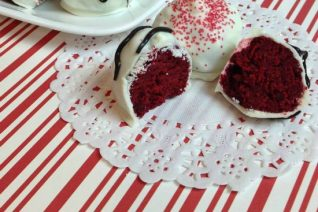 Red Velvet Truffles Recipe Featured on Food Wine Sunshine