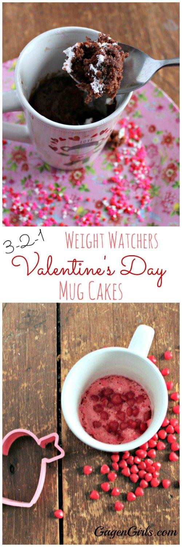 Weight Watchers Valentine's Days Mug Cakes featured on Food Wine Sunshine