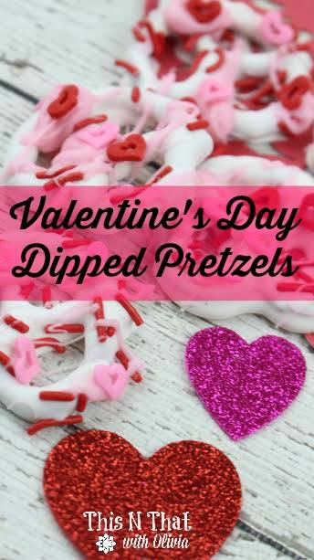 Valentine's Day Dipped Pretzels Featured on Food Wine Sunshine