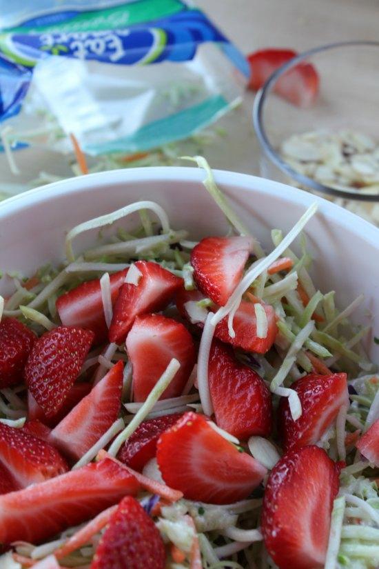 Easy Strawberry Broccoli Slaw Salad