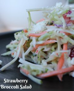 Strawberry Broccoli Salad Recipe on Food Wine Sunshine