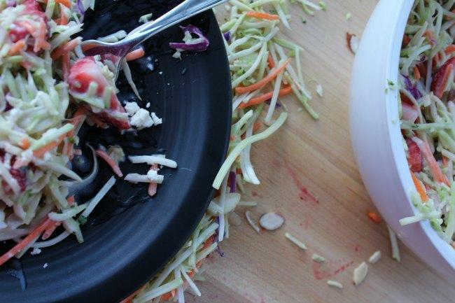 Strawberry Broccoli Salad Recipe on Food Wine Sunshine