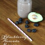 Blackberry Avocado Mango Protein Smoothie on Food Wine Sunshine