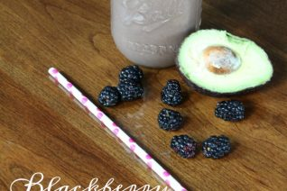 Blackberry Avocado Mango Protein Smoothie on Food Wine Sunshine