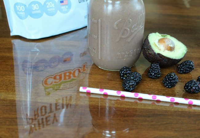 Blackberry Avocado Mango Protein Smoothie