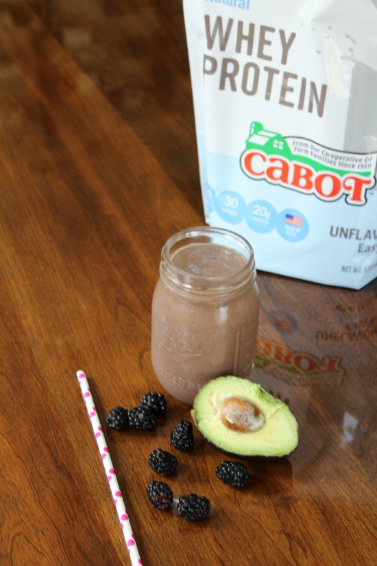 Easy Blackberry Avocado Mango Smoothie