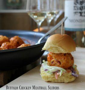 Buffalo Chicken Meatball Sliders on Food Wine Sunshine