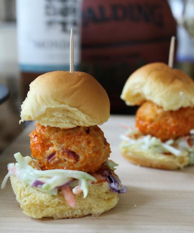 Appetizer Buffalo Chicken Meatball Sliders