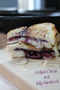Grilled Cheese and Jelly Sandwich on Food Wine Sunshine