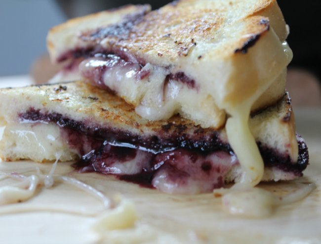 Delicious Jelly and Grilled Cheese Sandwich