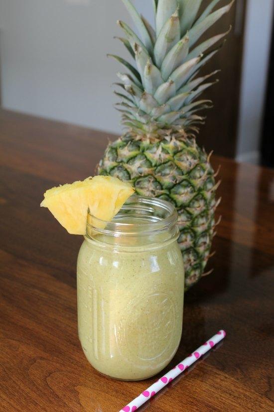 Avocado Pineapple Banana Protein Smoothie
