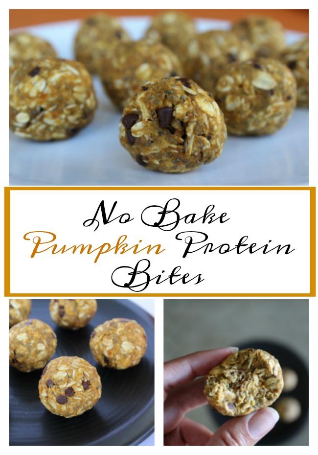 No Bake Pumpkin Protein Bites on Food Wine Sunshine