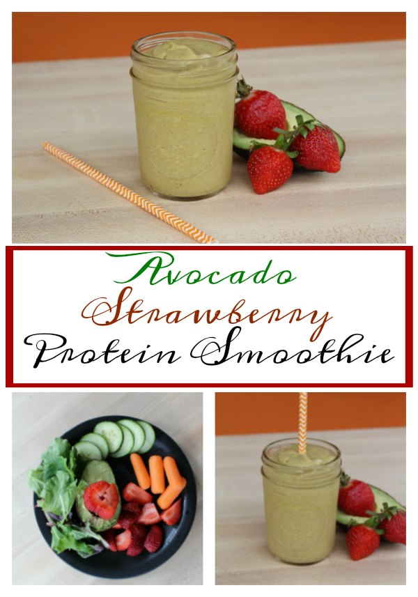 Avocado Strawberry Protein Smoothie