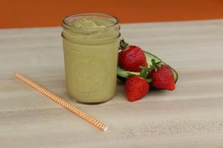 Avocado Strawberry Protein Smoothie on Food Wine Sunshine