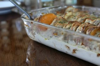 Recipe for Scalloped Potato Casserole With Root Vegetables on Food Wine Sunshine