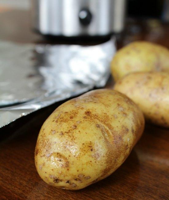 Crockpot Baked Potatoes on Food Wine Sunshine