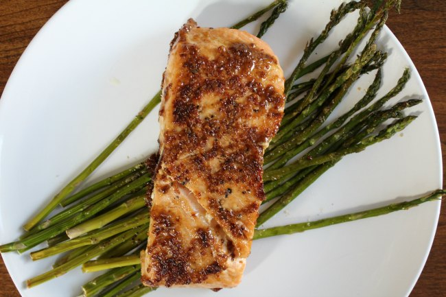 Best Salmon with Mustard and Brown Sugar Glaze