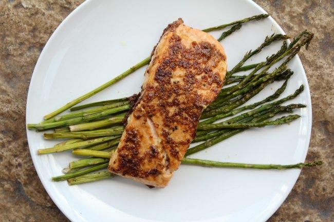 Tasty Salmon with Brown Sugar Mustard Glaze