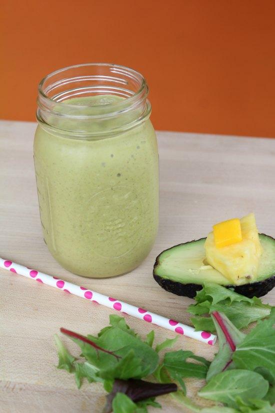 Tropical Avocado Smoothie on Food Wine Sunshine