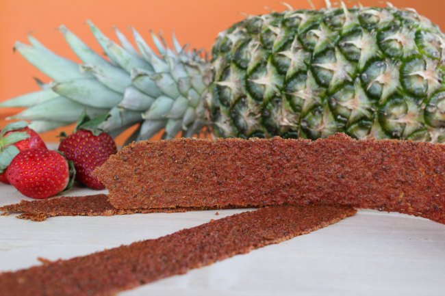 Strawberry Pineapple Fruit Leather - Complete With Hidden Veggies on Food Wine Sunshine