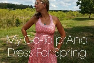 My Go-To prAna Dress For Spring on Food Wine Sunshine