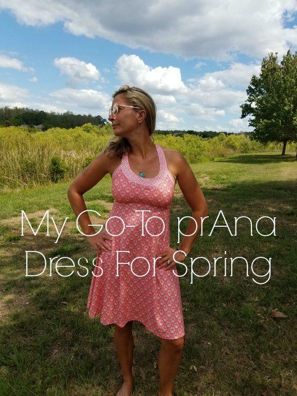 My Go-To prAna Dress For Spring on Food Wine Sunshine