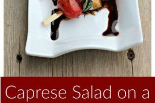 Grilled Caprese Salad on a Stick featured on Food Wine Sunshine
