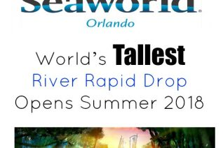 SeaWorld Orlando - Infinity Falls - World's Tallest River Rapid Drop - Opens Summer 2018 on Food Wine Sunshine