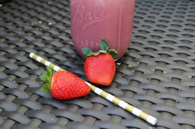 Easy Sweet Potato Strawberry Protein Smoothie